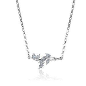 NEW Sterling silver LEAF Necklace